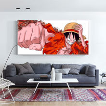 Japanese Anime Cartoon Canvas Paintings One Piece Luffy Art Decor Nursery Kids Room Living Poster Painting Wall Home Decor