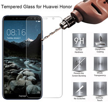 Tempered Glass for Huawei Y7 Y5 Y6 Prime 2018 Nova 2 Lite Screen Glass on Honor 7A Pro 7S Glass for Honor 7C Russia Version Film(China)