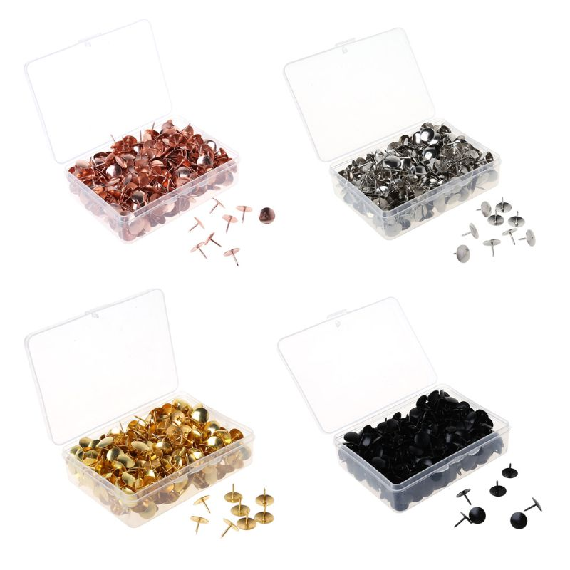 400pcs Metal Thumbtack Drawing Pins Pushpin Cork Board Photo Wall Map Markers