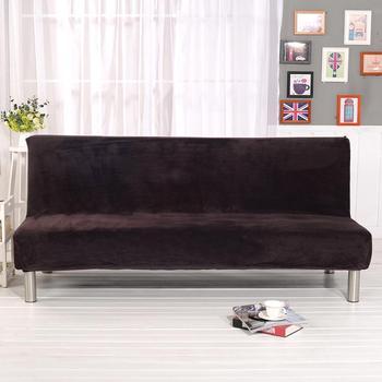 חורף קטיפה ספה מיטת כיסוי הכל כלול ריפוד לספה ללא משענת אין מעקה ספה כיסוי שלושה מושב קאפה דה ספה
