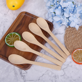 5 sztuk partia bambusa łyżka kawy miód herbata łyżka mieszadło dziecko miód łyżka kawy łyżka zastawa stołowa bambusa Scoop tanie i dobre opinie CN (pochodzenie)