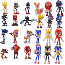 Set di 4 stili Figure di ombra giocattolo giocattolo in PVC coda di ombra personaggi figura giocattolo regalo di natale