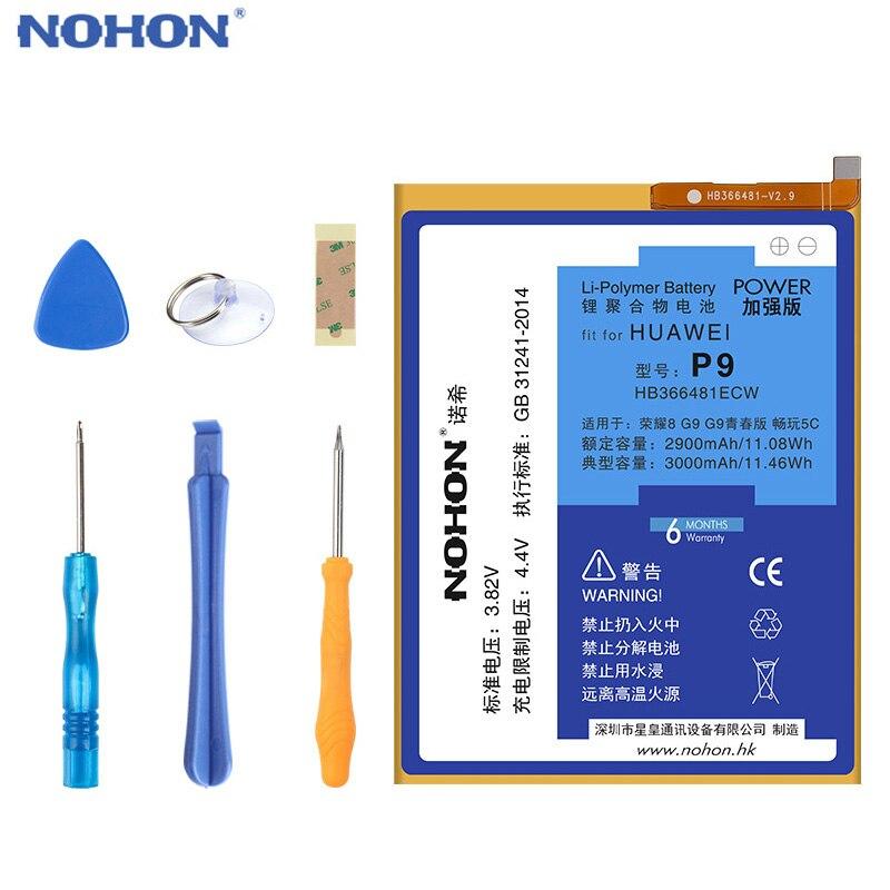 Оригинальный NOHON HB366481ECW Аккумулятор для P8 P9 Lite 2017 P smart Honor 6 7 8 9 9i 5C 7i/P10 P20 Lite/Y6 II сменные инструменты для телефона|Аккумуляторы для мобильных телефонов|   | АлиЭкспресс