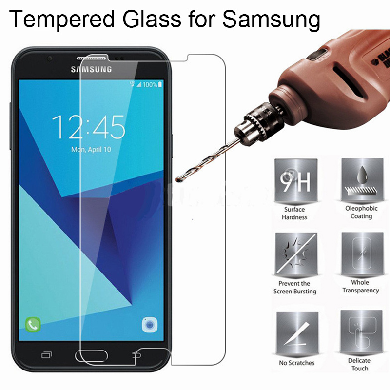 Smartphone Tempered <font><b>Glass</b></font> 9H HD Protective <font><b>Glass</b></font> for <font><b>Samsung</b></font> C10 C9 Pro C8 Screen Protector on Galaxy C7 C5 Pro image