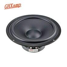 GHXAMP 8 นิ้ว 218 มม.ลำโพงMidrange Bass 8ohm 140Wโฮมเธียเตอร์ลำโพงMatteเคลือบกระดาษถาดHIFI DIY 45Hz 1Pc