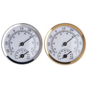 Hygrometer Humidity-Temperature-Meter-Gauge Wall-Mounted Household for Sauna-Room