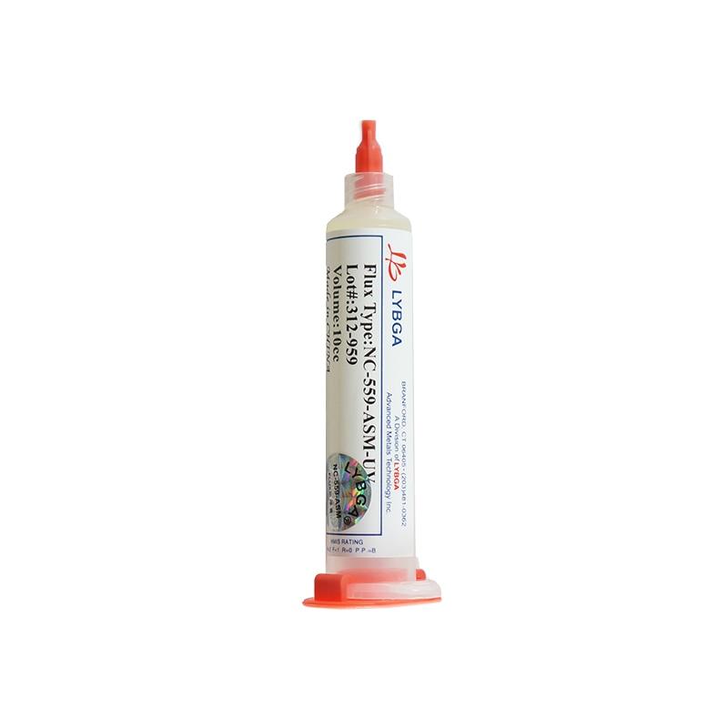 LY 10cc NC-559-ASM-UV Flux Paste Lead-free Solder Paste Solder Flux With Needles Piston Syringe Putter