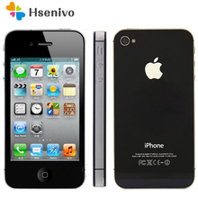 Orijinal Unlocked iPhone 4S telefon 16GB 32GB 64GB ROM çift çekirdekli WCDMA 3G WIFI GPS 8MP kamera kullanılan apple cep telefonu yenilenmiş