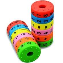 6 sztuk magnetyczne zabawki montessori zabawki edukacyjne wczesna edukacja dla dzieci matematyka numery biznesowe DIY montaż puzzli