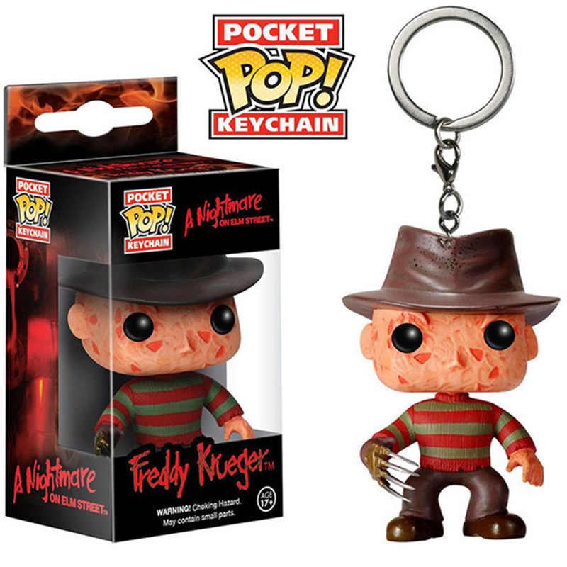 Funko POP Bolso Keychain Brinquedo Jason Freddy VS Figuras de Ação Brinquedos