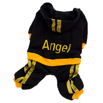 Winter Warm Pet Dog Clothes Soft Cotton Four-legs Hoodies Outfit For Small Dogs Sweater Clothing Puppy Coat Jacket image