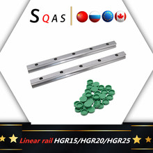 EU warehouse 2pc HGR15 HGR20 HGR25 HGR30 Square Linear Guide Rail for HIWIN Slide Block Carriages HGH20CA CNC Router Engraving