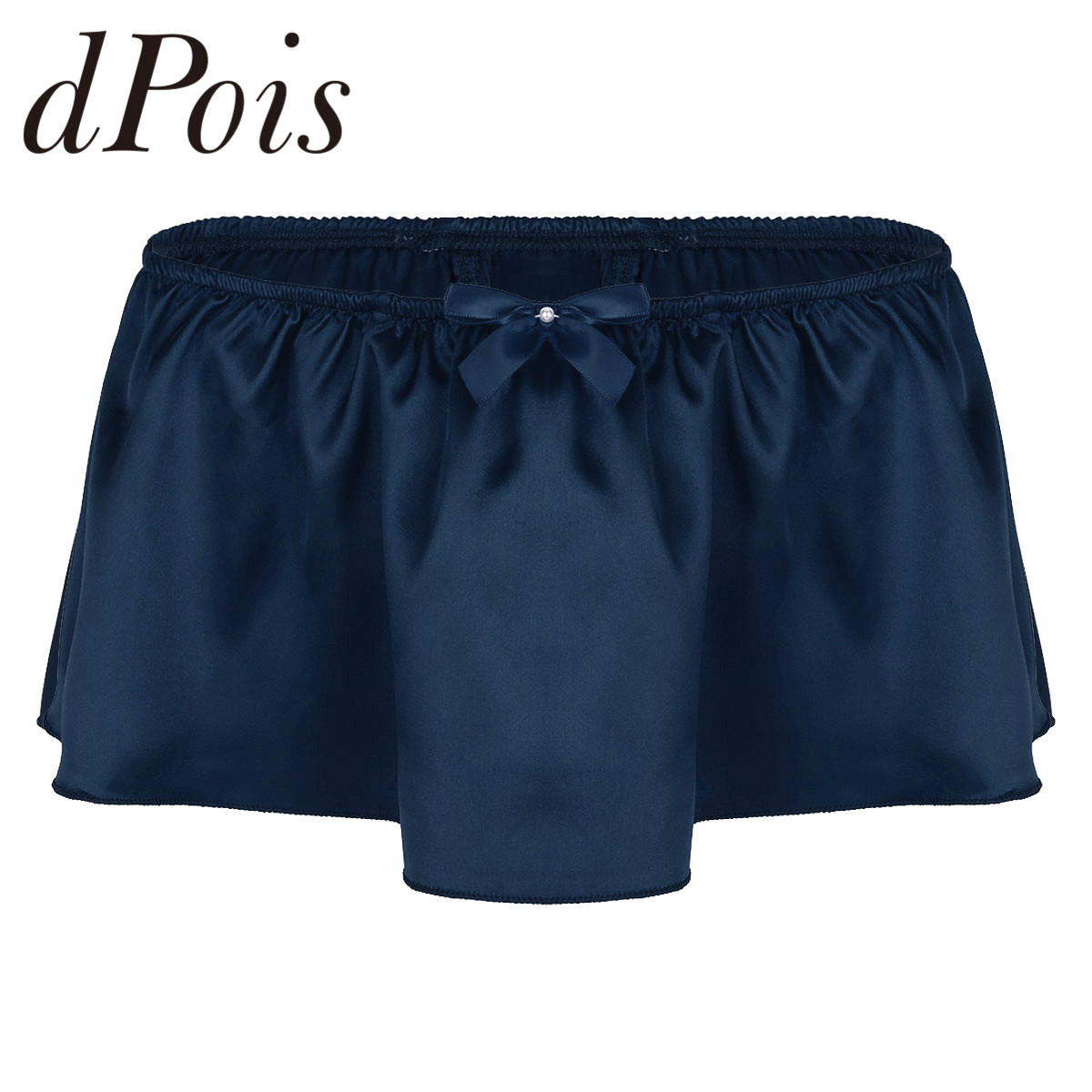 Mens Soft Satin Exposed G-string Thong Dress Ruffled Skirted Panties Briefs Men Short Skirts