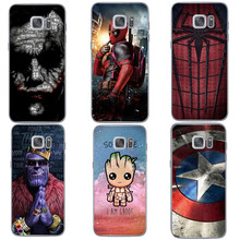 Крутой мягкий чехол для телефона Marvel spiderman Joker Deadpool для Samsungs Galaxys S20 Ultra S6 S7 Edeg S8 S9 S10 Plus Note 10 Pro funda(Китай)