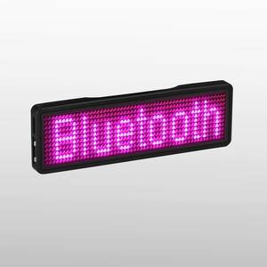 Image 5 - Bluetooth LED Badge Rechargeable Led Name Tag  11*55 wide LED trademark with magnet and pin for party event meeting