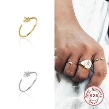 Boako 925 пробы серебряное кольцо открытое регулируемое для