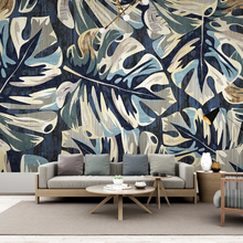 Hot Sale 3D Wallpaper Modern Green Leaves Plant Murals Living Room TV Bedroom Study Restaurant Background Wall Papers For Walls