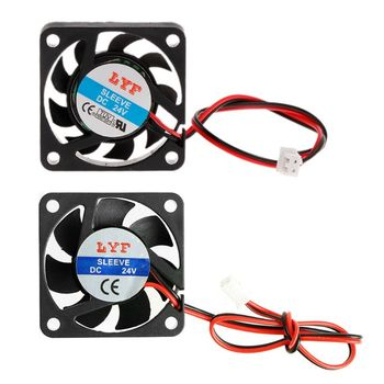 DC 24V 0.10A 2-Pin 40x40x10mm PC Computer CPU System Brushless Cooling Fan 4010 image