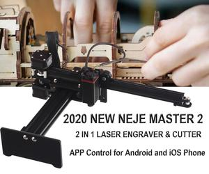 NEJE MASTER 2 3500mw / 7W Laser Engraving Machine Mini CNC Cutting Wood Router Desktop Engraver Supports APP Control(China)