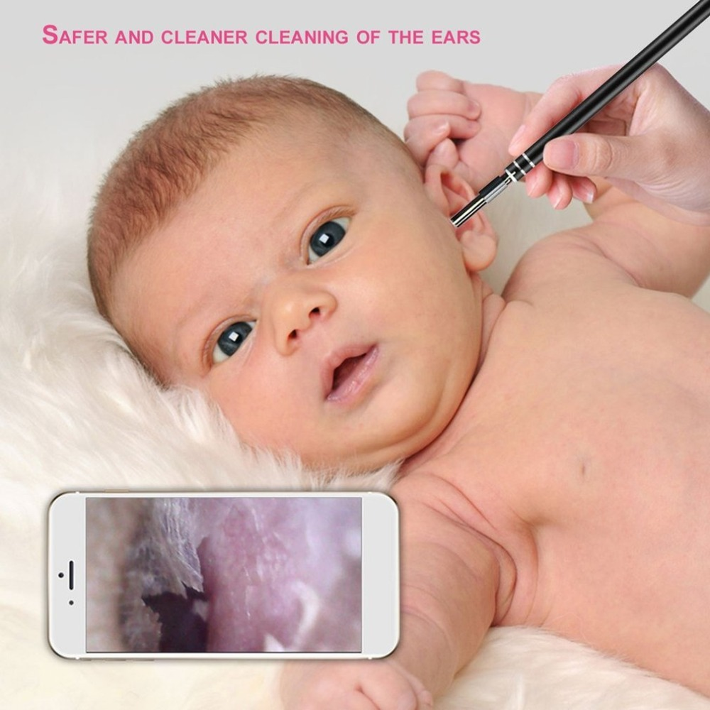 Smart Cleaning Endoscope HD Visual Ear Spoon Earpick Mini Camera Pen Ear Care In-ear LED Flash Light Ear Cleaning Tools For Kids
