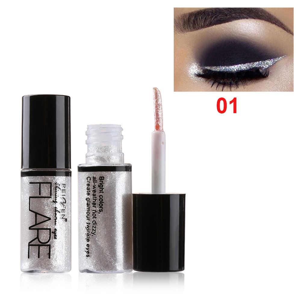 Delineador de ojos brillante profesional lápiz cosméticos para mujeres Color plata Rosa oro líquido brillo delineador de ojos maquillaje herramientas de belleza