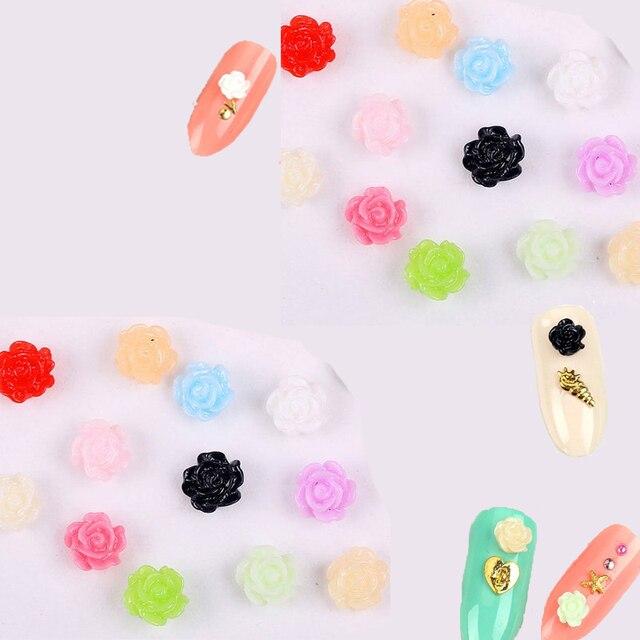 Купить 100 шт/пакет 3d смолы розы аксессуары для ногтей с подвесками картинки цена