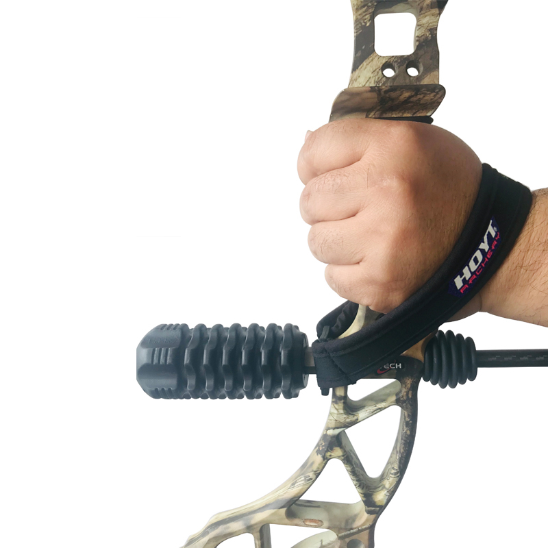 1pcs HOYT Archery Adjustable Braided Wrist Sling Strap Compound Bow Stabilizer Hunting Shooting Practice Sports Accessories