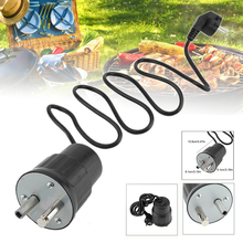 New Aluminum Electric Barbecue Rotisserie Roaster Motor Pike Rotator 220~240V Grill Motor Barbecue Motor Black stainless steel bbq grill rotating motor pig lamb goat chicken charcoal barbecue grill roaster spit rotisserie electric motor