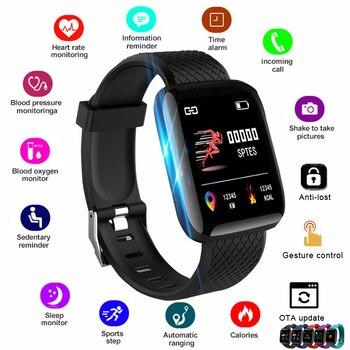 ساعة ذكية للرجال والنساء موديل 2020 ساعة ذكية لأجهزة Apple IOS وأندرويد ومتتبع ذكي للياقة البدنية مع حزام من السيليكون ساعات رياضية 1