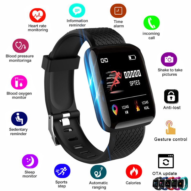 2020 Smart Watch Women Men Smartwatch For Apple IOS Android Electronics Smart Fitness Tracker With Silicone Strap Sport Watches(China)