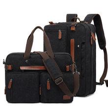 Мужская Холщовая Сумка для работы, дорожный портфель, сумка через плечо, многофункциональная сумка-тоут, большой повседневный деловой карм...
