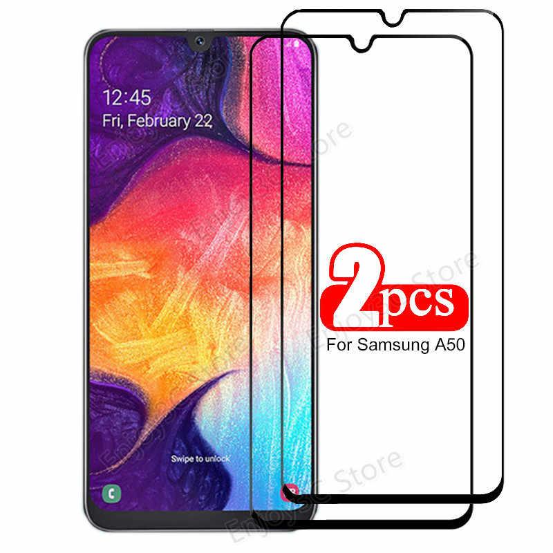 La cubierta de vidrio templado para Samsung Galaxy A51 A71 A70 A50 A40 A30 A31Screen Protector para Samsung J4 J6 A6 A7 A8 A9 película de 2018