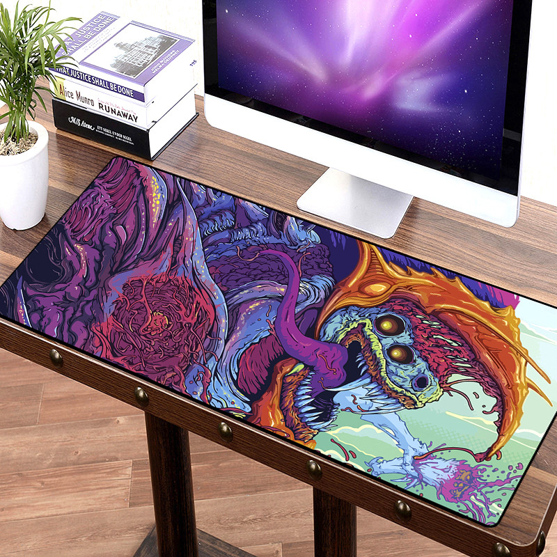 <font><b>900x400</b></font> mm large gaming mouse pad XL XXL Overlock big game mousepad keyboard desk mat for CS:GO CSGO dragon hyper beast AWP image