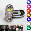T10 led-leuchten 2/10 stücke W5W 194 Glas Gehäuse Led-lampen Auto Weiß Farben Lizenz Platte Lampe Dome Licht 7 farben Auto Universal