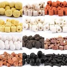 Akwarium wkład filtracyjny materiał węgiel aktywny pierścień ceramiczny Bio Ball z torba z siateczką dom bakteryjny akcesoria do akwarium