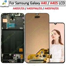 삼성 갤럭시 a40 A405 LCD 디스플레이 터치 스크린 디지타이저 A405F A405FN 어셈블리 교체 삼성 a40 lcd 디스플레이