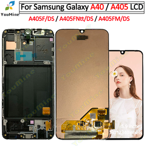 Image 1 - 삼성 갤럭시 a40 A405 LCD 디스플레이 터치 스크린 디지타이저 A405F A405FN 어셈블리 교체 삼성 a40 lcd 디스플레이