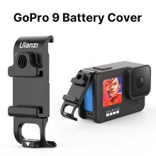 Ulanzi G9 6 Metal MultiFunction Battery Cover For GoPro Hero Black 9 With 1/4 Screw Cold Shoe Mount Fill Light Microphone