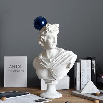 55cm mitologia grecka Apollo biust figurka statua niebieska piłka rzeźba artystyczna rzemiosło żywiczne akcesoria do dekoracji wnętrz tanie i dobre opinie Model Żywica Wyroby gotowe Unisex Zachodnia animiation Dorośli 14 lat 8 lat 6 lat Zapas rzeczy Rzeczywistość