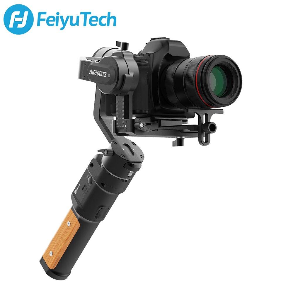 FeiyuTech AK2000C plaque de dégagement pliable 3 axes stabilisateur DSLR stabilisateur de cardan pour Canon, Sony, Panasonic, Nikon, Fujifilm