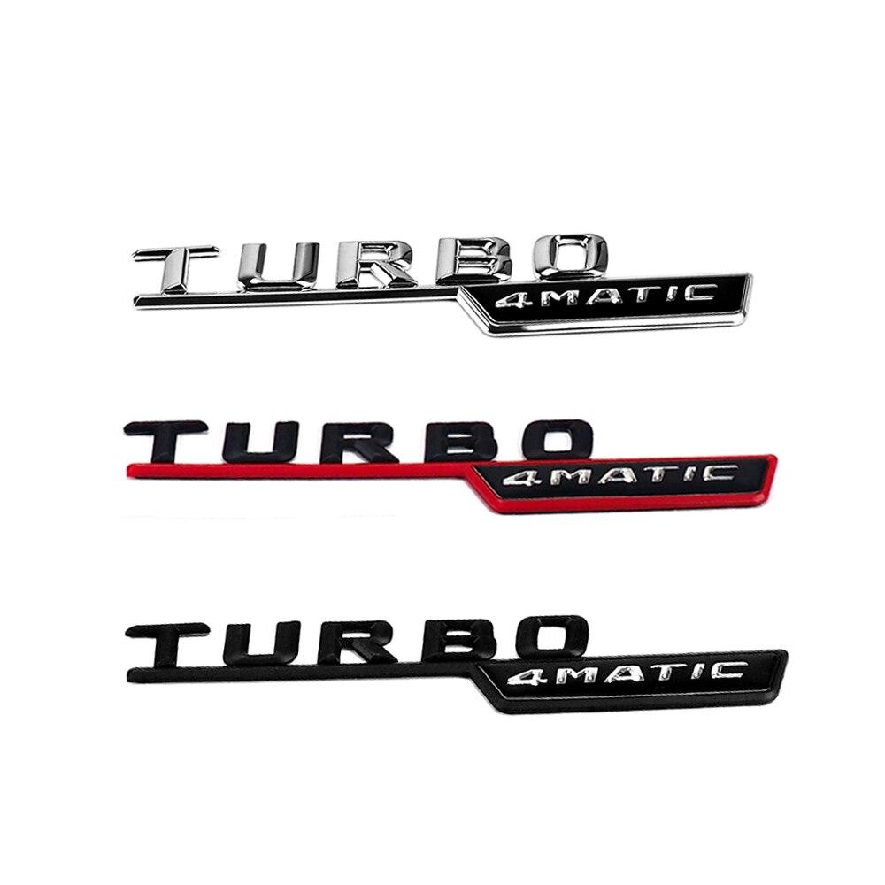 2 adet TURBO 4MATIC yan Sticker Mercedes Benz W212 W221 W205 W204 W202 GLA CLA CLS GLC GLE TURBO 4MATIC amblem rozeti Sticker