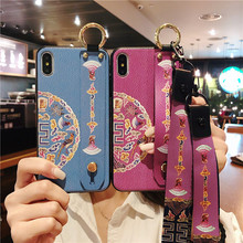 Wrist Strap Phone case For iphone 7 XS MAX case Vintage Holder stand Back Cover For iphone 6 6S 7 8 Plus iphone X XR case nobrand ппв 200 кг м3 россия дно мата анти слип