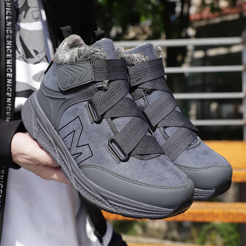 Kış yürüyüş botları kadın kayma dayanıklı ayakkabı erkekler sıcak kürk kar botları Sapatos. Para Hombre kadın rahat düz ayakkabı erkekler