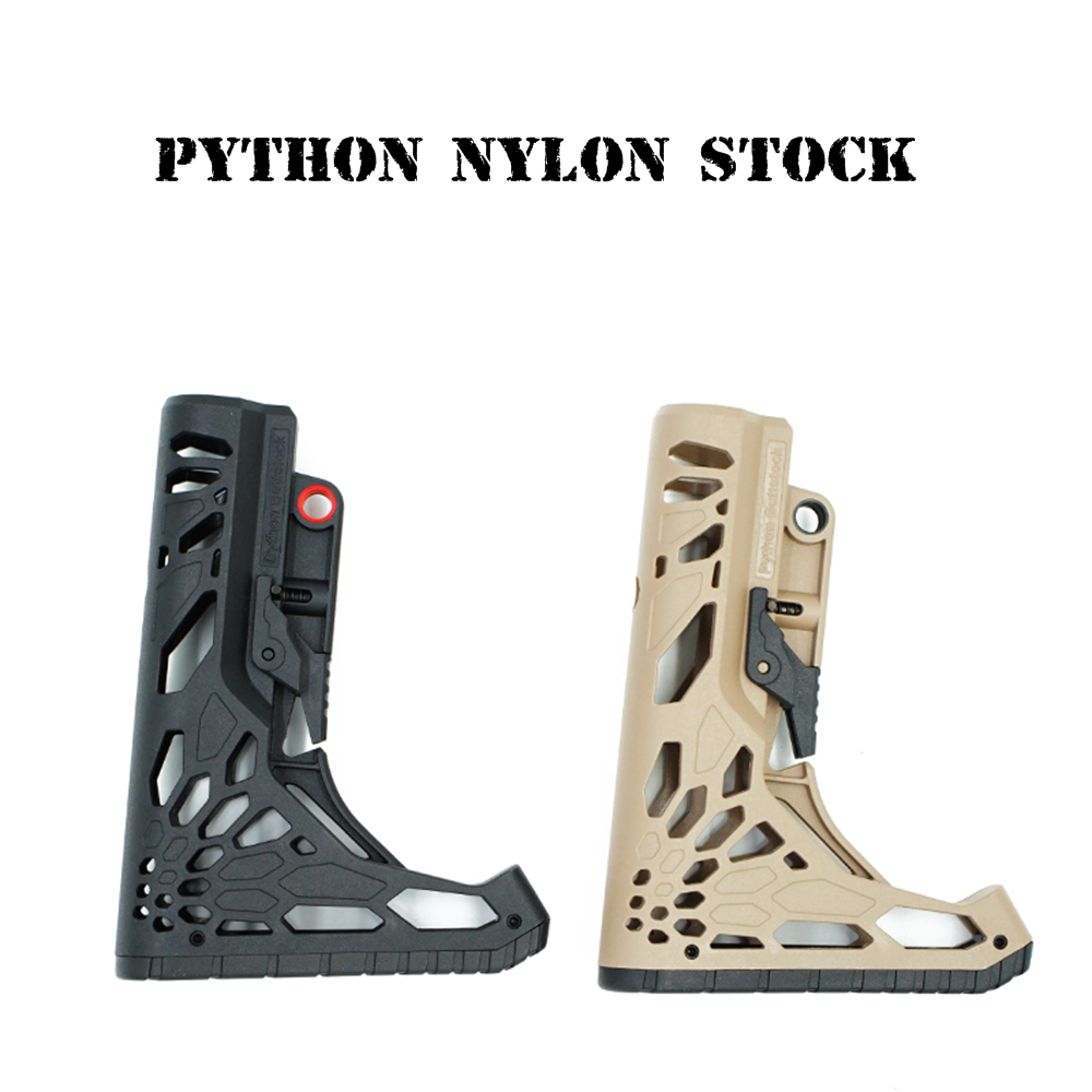 Python Nylon Tactical Toy Gun Stock Gel Blaster Upgrade Extended Stock Upgrade Part Replacement  Accessories