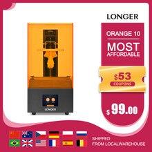 Longer Orange 10 lcd sla kit de impressora 3d com matriz resina iluminação uv resina impressora 3d corpo de metal completo impressora de resina impressão 3d 3D Drucker Printer 3D