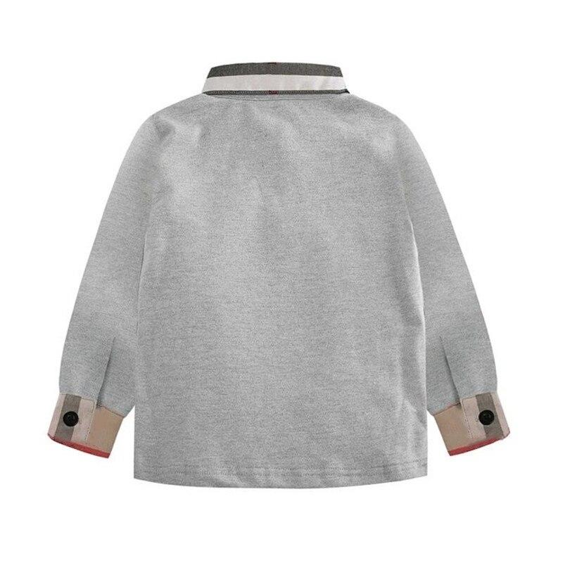 New Spring Boys Girls latticen Cotton T Shirts Children Tees Boy Girl Long Sleeve T Shirts Kids Tops Brand Baby Clothes 3-8Y 2