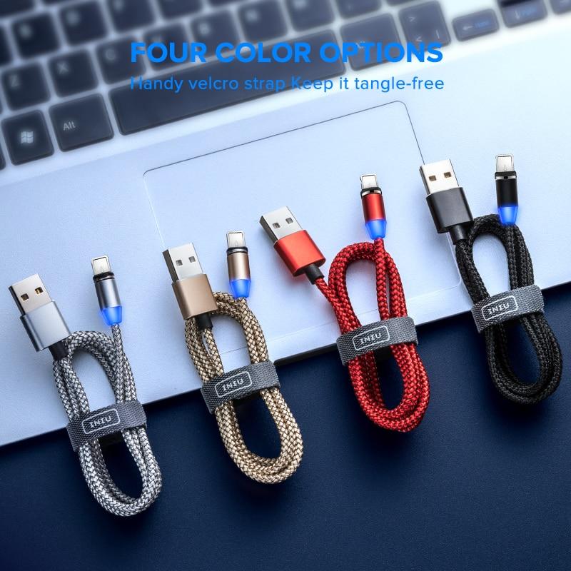 INIU 2 м Магнитный кабель type C Micro USB быстрая зарядка для iPhone 11 Pro huawei Android мобильный телефон зарядка магнит зарядное устройство Шнур