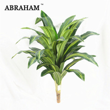 75cm Big Fake Dracaena Tree Tropical Shrub Palm Artificial Plant Branch Real Touch Silk Green Leafs for Home Autumn Decor