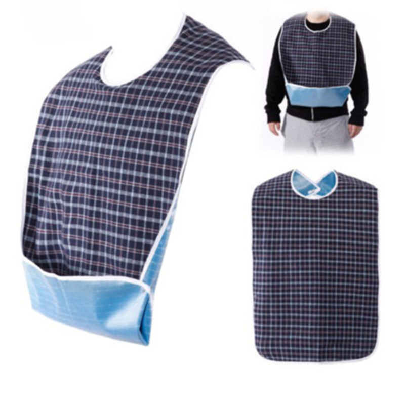 Faroot 2019 New Waterproof Bib Adult Mealtime Cloth Protector Detachable Disability Aid Aprons