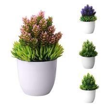 Creative Mini Artificial Tree Potted Plant Fake Bonsai Plants Simulation Ornaments for Home Office Hotel Restaurant Bar